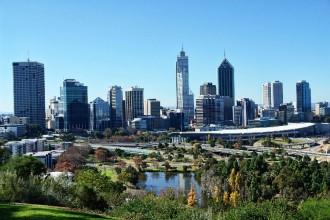 Perth skyline, looking over Kings Park
